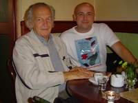 Z Bohdanem Butenko w kawiarni
