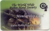 Karta członka The World Wide Robin Hood Society