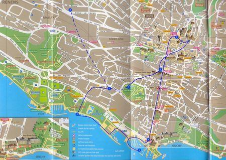 Lozanna - plan miasta