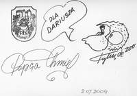 Dedykacja od Papcia Chmiela