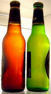 Butelka butelce nierówna