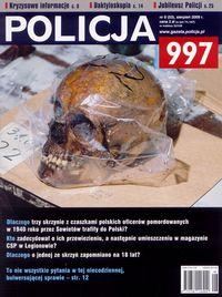 Okładka miesięcznika POLICJA 997 - sierpień 2009